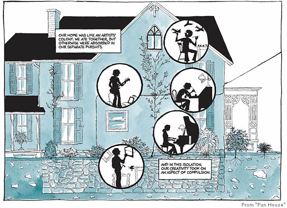 fun home a family tragicomic analysis Fun home samantha trost structural analysis professor drolet 10/30/12 fun home alison bechdel, who is best known for her comic strip dykes to watch out for wrote the autobiographical comic.